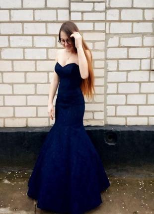 Выпускное, вечернее, длинное, кружевное платье. платье для фотосессии