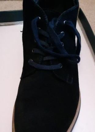 Тёмно-синие ботинки (осень-зима)