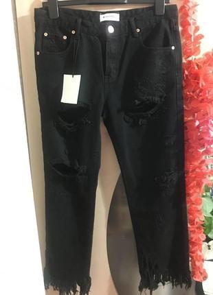 Очень крутые фирменные рванные джинсы glamorous