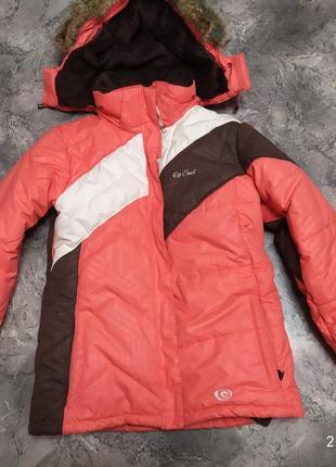 Классная зимняя теплющая курточка  rip curl
