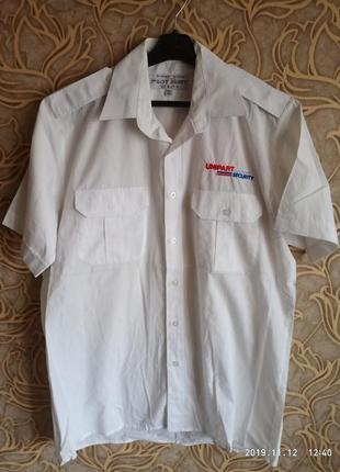 Белая мужская рубашка pilot shirt