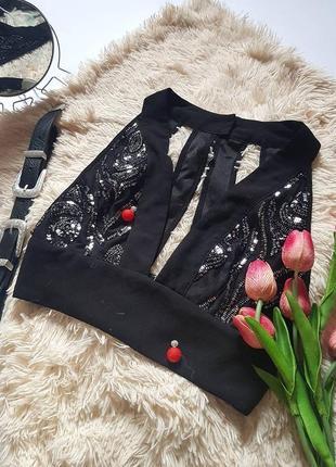 Крута сексуальна блуза топ з паєтками  від missi london
