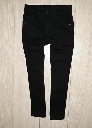 Чёрные, базовые джинсы george на 7-8 лет