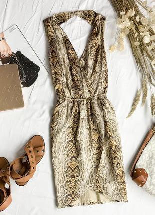 Тренд сезона платье в змеиный принт dr 1946121  mango