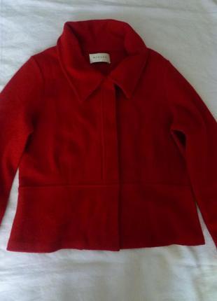 Стильный шерстяной жакет пиджак валяная 100% шерсть минимализм стиль minuet