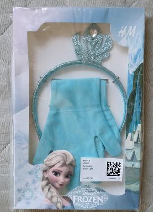 Комплект аксессуаров frozen hm(перчатки+тиара)