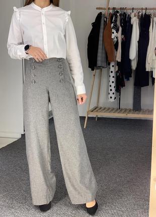Теплые шерстяные брюки h&m 38-40