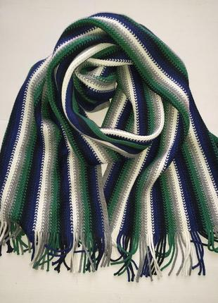 Двусторонний шарф унисекс в полоску takko fashion германия