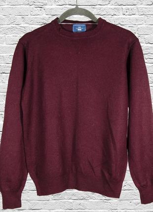 Кашемировый свитер бордовый, шерстяной свитер женский, кашемировый пуловер