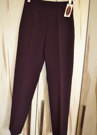 Италия классические брюки сливового цвета со стрелками прямые завышенная талия s/m
