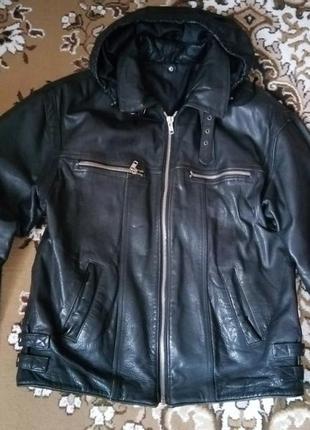 Куртка мужская кожаная, натуральная кожа