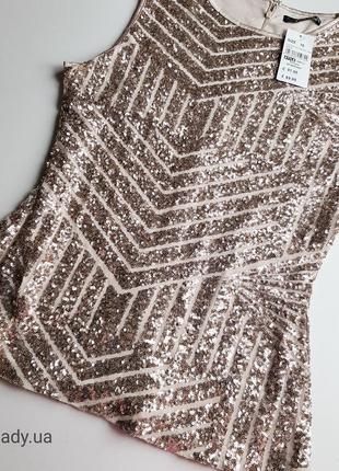 Quiz шикарная блуза в пайетку