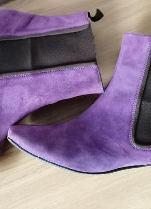 Ботинки челси замш