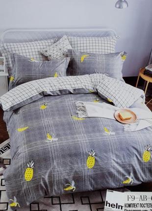 Дропшиппинг опт сатиновое постельное бельё евро размер комплект 4 наволочки