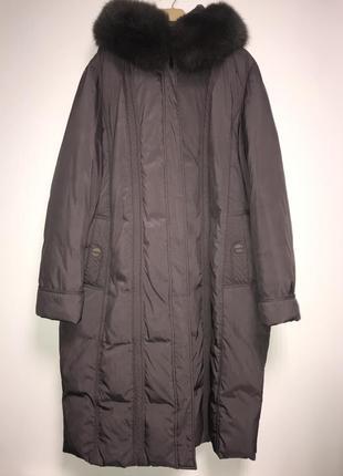 Зимнее пальто пуховик большого размера