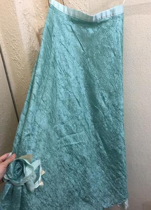 Праздничная юбка мятного цвета на выпускной или новый год
