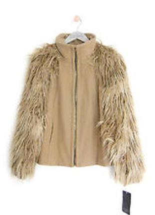 Трендовое camel пальто zara с шикарными объемными рукавами