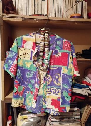 Яркая лёгкая шёлковая рубашечка