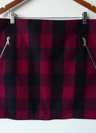 Шерстяная юбка, премиум-класса