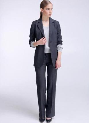 Классический темно-серый костюм h&m