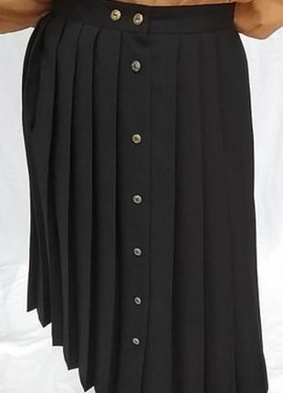Винтажная юбка в складку с золотыми пуговицами