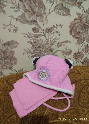 Дитячий зимовий набір з шапкою та шарфом