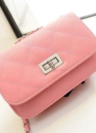 Женская красивая недорогая розовая новая недорогая сумка клатч для телефона