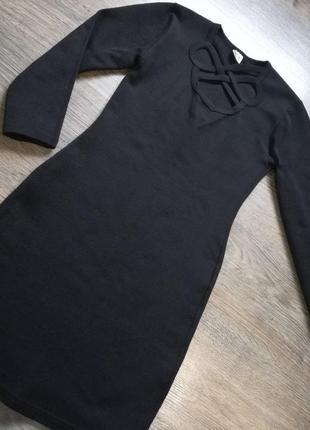 Платье мини теплое р. xs турция рукав 3*4 фото №8  платье мини теплое