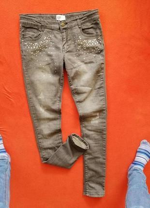 Красивые джинсы скинни девочке подростку inside 164 в прекрасном состоянии