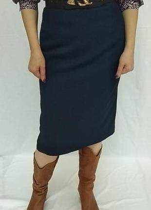 Винтажная , классическая  ,шерстяная юбка прямого кроя . scotland .