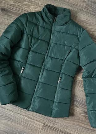 Куртка terranova з капішоном зимова зелена хакі