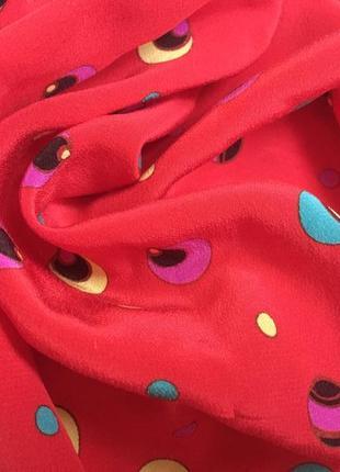 Винтажный шелковый платок шарф beckford silk /оригинал/шов роуль
