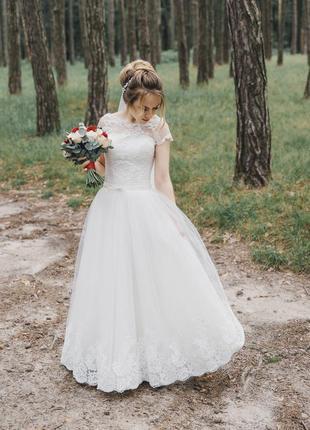 Свадебное платье на невысокую девушку