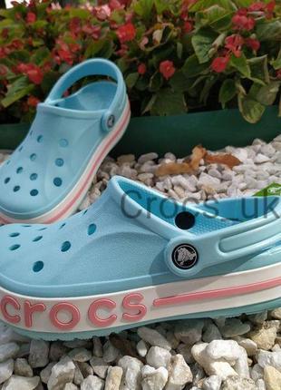 Crocs literide голубого цвета