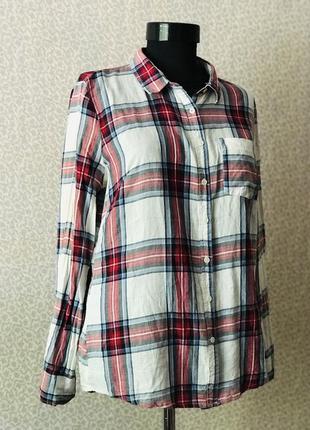 Тёплая рубашка в клеточку