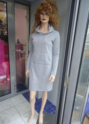 Платья-свитшоты короткие на флисе