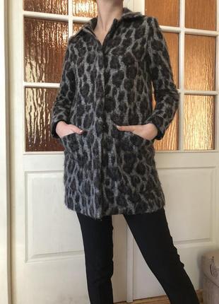 Леопардовое пальто zara