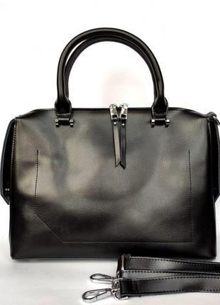 """Женская кожаная сумка """"sheen"""" черная"""
