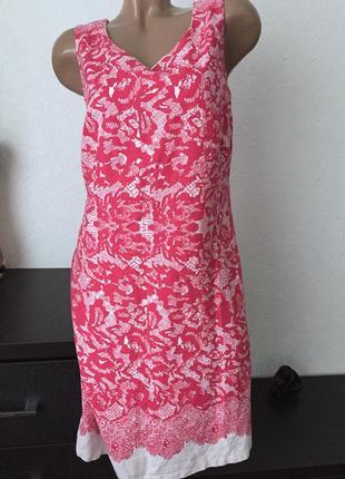 Льняное платье футляр р12 40l