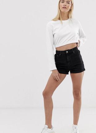 Черные джинсовые шорты в винтажном стиле asos design ritson