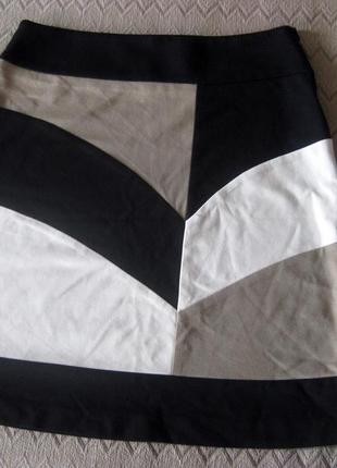 Юбка atmos fashion разноцветная бежевая чёрная