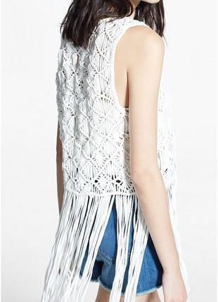 Шикарный плетеный натуральный жилет