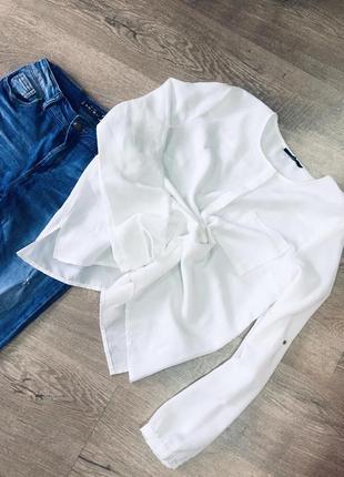 Роскошная белая базовая блуза esmara