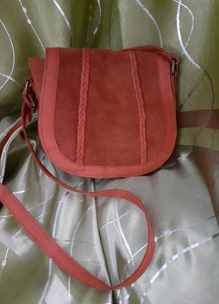 Кожаная сумка через плечо кросс-боди pieces