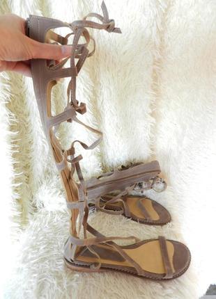 ✅ высокие сандалии шнуровка римлянки