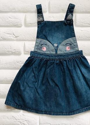 George стильный джинсовый сарафан на девочку 5-6 лет