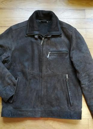 Тёплая кожаная куртка 2в1