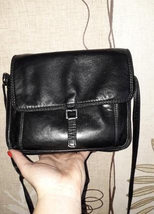 Шкіряна сумка через плече