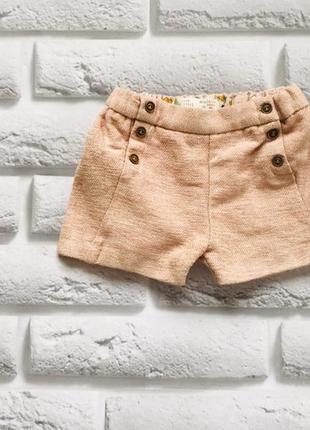 Zara стильные теплые шорты на девочку 12-18 мес
