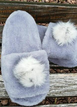Тапочки тапки для дома домашние меховые из натуральной овчины